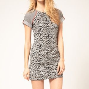 French Connection Leopard Print T-Shirt Mini Dress